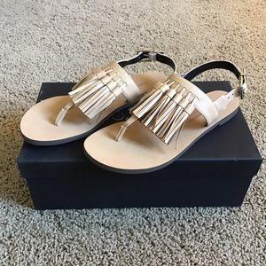 adb8176d7491 Rebecca Minkoff Shoes - Erin Leather Tassel Sandal